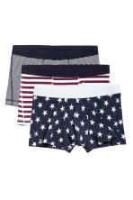 3-pack trunks - Dark blue/Stars - Men | H&M 2