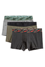 3-pack Boxer Shorts - Khaki green/black/gray - Men | H&M CA 2