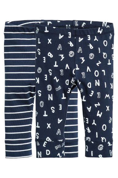 2-pack jersey trousers - Dark blue - Kids | H&M CN 1