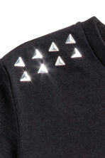 Studded jersey top - Black - Kids | H&M 3