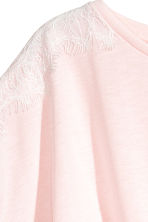Tie-front Top - Light pink/white - Kids | H&M CA 3