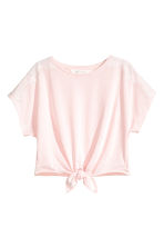 Tie-front Top - Light pink/white - Kids | H&M CA 2