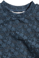 Sleeveless Lace Top - Dark grey - Kids | H&M CA 3