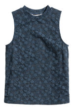 Sleeveless Lace Top - Dark grey - Kids | H&M CA 2