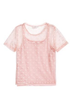 Mesh top with a cami top - Light pink/Heart - Kids | H&M 2