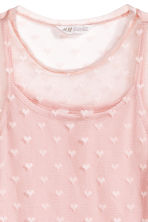Mesh top with a cami top - Light pink/Heart - Kids | H&M 3