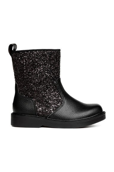 Bottines scintillantes - Noir - ENFANT | H&M CA