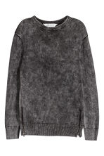Cotton jumper with zips - Black - Kids | H&M GB 2
