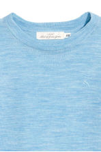 Merino wool jumper - Light blue - Kids | H&M CN 3