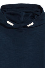 Knitted hooded jumper - Dark blue - Kids | H&M CN 3