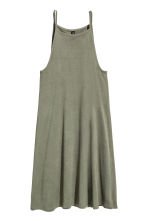 Short jersey dress - Khaki green - Ladies | H&M GB 2