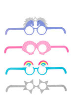 4-pack cardboard party glasses - Purple/Unicorn - Ladies | H&M 2