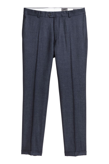 Pantaloni da completo Slim fit - Blu scuro mélange - UOMO | H&M IT 1