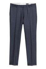 Wool suit trousers Slim fit - Dark blue marl - Men | H&M CN 1