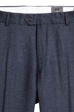 Wool suit trousers Slim fit - Dark blue marl - Men | H&M CN 2