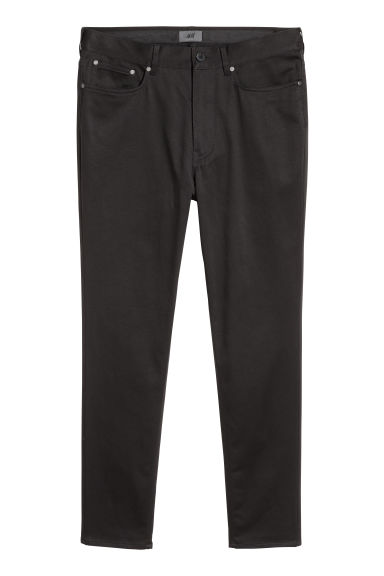 Satin trousers Skinny fit - Black - Men | H&M CN