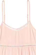 Dress with hemstitching - Powder pink - Ladies | H&M CN 4