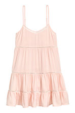 Dress with hemstitching - Powder pink - Ladies | H&M CN 2