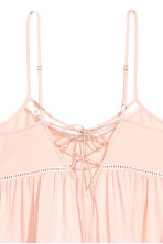 Dress with hemstitching - Powder pink - Ladies | H&M CN 3