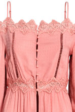 Long off-the-shoulder blouse - Coral pink - Ladies | H&M CN 3