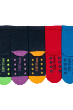 5-pack anti-slip socks - Blue/Turtles - Kids | H&M CN 4