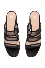 Mules with mesh straps - Black - Ladies | H&M 2