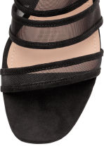 Mules with mesh straps - Black - Ladies | H&M 3