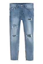 Relaxed Skinny Jeans - Lichtblauw/Trashed - HEREN | H&M BE 2
