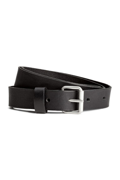 Leather belt - Black - Ladies | H&M 1