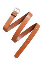 Leather belt - Cognac brown - Ladies | H&M 3