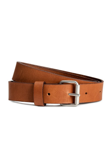 Leather belt - Cognac brown - Ladies | H&M 1