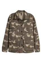 Utility jacket - Khaki green/Patterned - Ladies | H&M 2