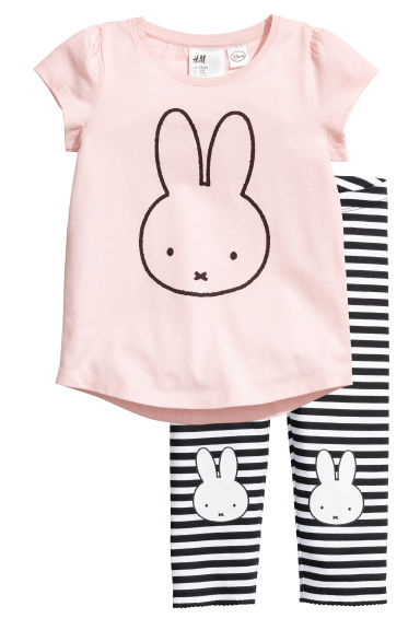 平紋睡衣套裝 - Light pink/Miffy - Kids | H&M 1