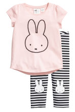 Jersey pyjamas - Light pink/Miffy - Kids | H&M 1