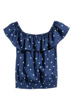 Flounced blouse - Dark blue - Kids | H&M 2