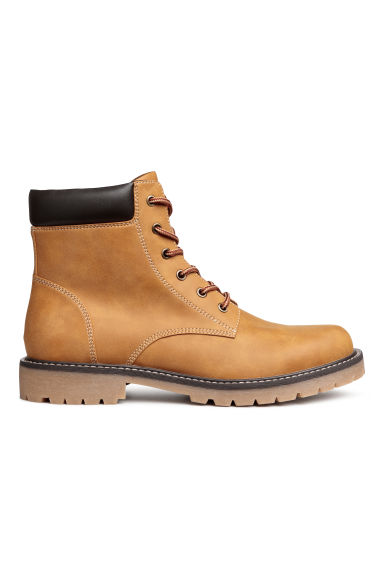 Bottines à semelle épaisse - Jaune moutarde - HOMME | H&M BE
