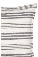 Washed linen pillowcase - Light beige/Striped - Home All | H&M CN 3