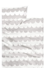 Patterned duvet cover set - Light grey - Home All | H&M CA 3