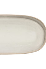 Stoneware serving dish - Natural white - Home All | H&M CA 2