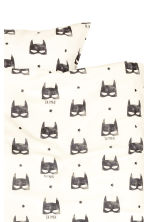 Patterned duvet cover set - White/Batman - Home All | H&M CN 2