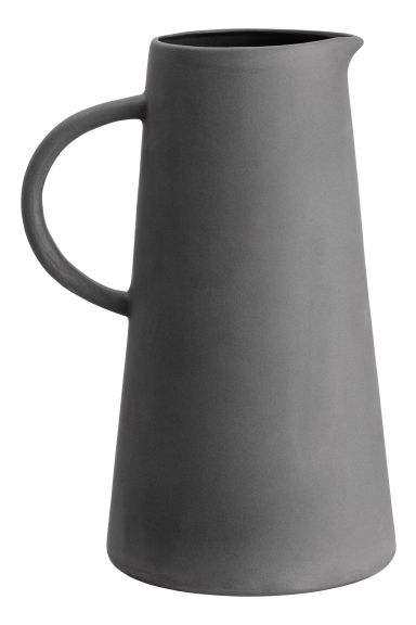 Stoneware jug - Dark grey - Home All | H&M CN 1
