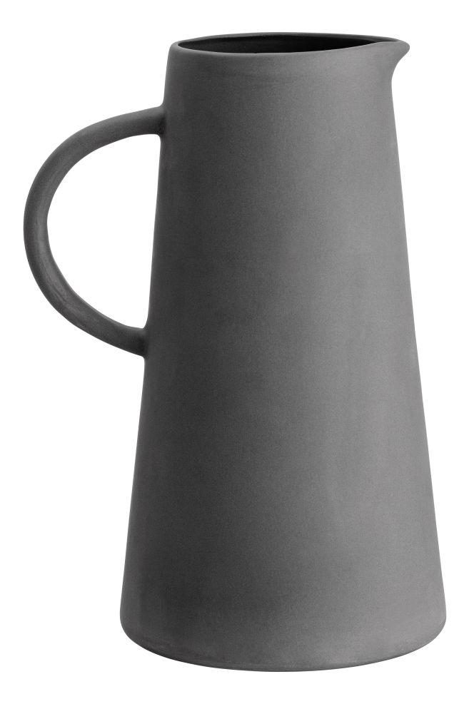 Stoneware jug - Dark grey - Home All | H&M US 1