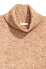 Mohair-blend polo-neck jumper - Beige marl - Ladies | H&M 3