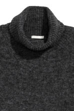 Mohair-blend polo-neck jumper - Dark grey - Ladies | H&M CN 3