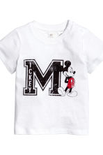 3-piece jersey set - White/Mickey Mouse -  | H&M 3