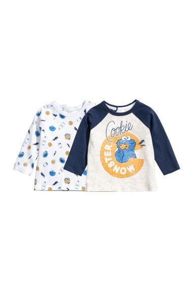 Set van 2 shirts - Blaue/Koekiemonster -  | H&M NL 1