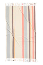 Beach towel - Natural white/Striped - Ladies | H&M CN 3