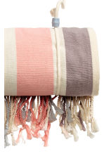 Beach towel - Natural white/Striped - Ladies | H&M CN 5