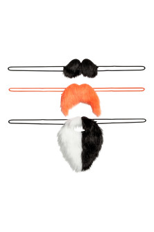 3-pack fancy dress moustaches