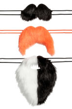 3-pack fancy dress moustaches - Black/White/Orange - Kids | H&M 2
